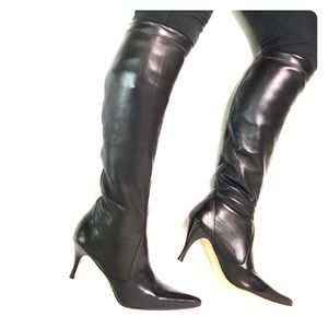 Cole Haan High Knee Heel Soft Leather Boots